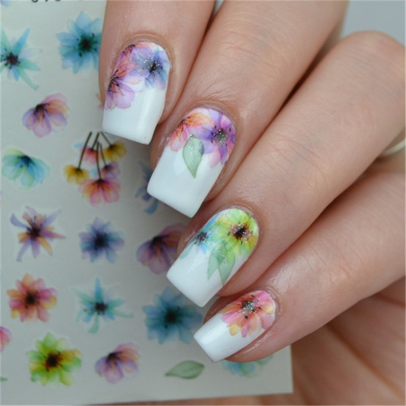 Colorful Nail Art Water Decals Transfer Sticker Art DIY - Beauty-Holic